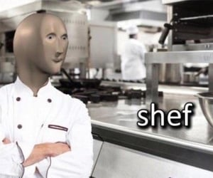 chef, cook, and funny image