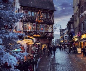winter, christmas, and france image