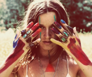 girl, indie, and rings image