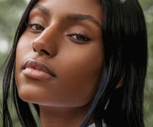 beauty, black, and skin image