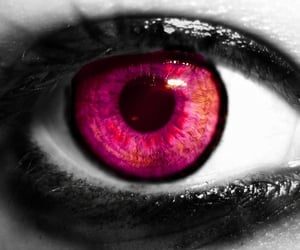 pink eyes, pink aesthetic, and neon pink image