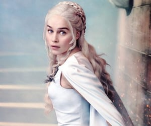 a song of ice and fire, emilia clarke, and daenerys targaryen image