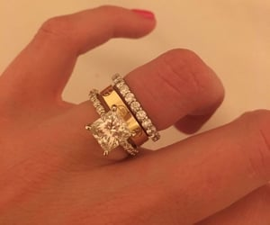 aesthetic, diamonds, and ring image