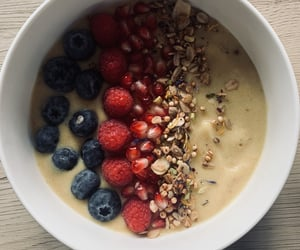 bowl, fruit, and fit image