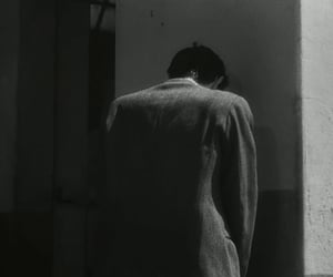 black & white, boy, and tv show image