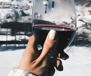 mountains, wine, and winter image