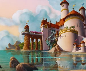 disney, ariel, and castle image