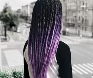 braids, hairstyle, and natural hair image
