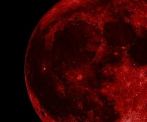 moon, red, and aesthetic image