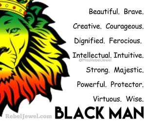 black man, lion, and black love image