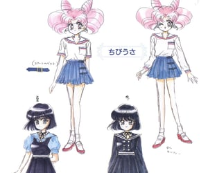sailor saturn, chibiusa, and sailor moon image