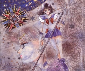 sailor moon and tomoe hotaru image