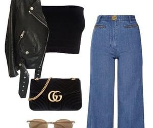 bag, jacket, and style image