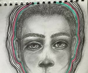 art, doodle, and pencil image