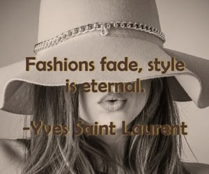 fashions, words, and Yves Saint Laurent image