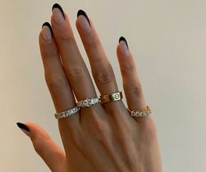 nails, jewelry, and style image