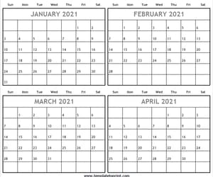 2021, jan to apr 2021, and jan to apr 2021 calendar image