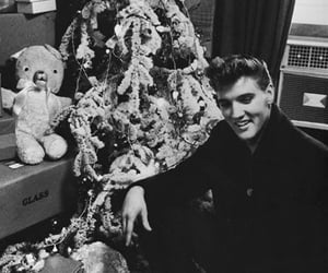 christmas, elvis, and black and white image