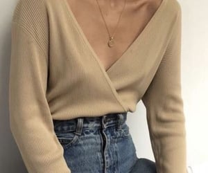 jeans, beige, and fashion image