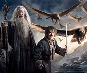 gandalf, the hobbit, and frodo baggins image