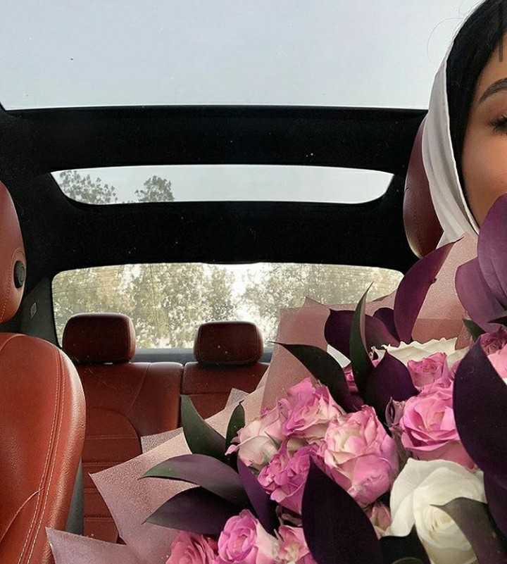 hijab, roses flowers, and duaa image