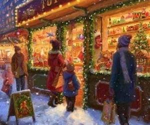 christmas, snow, and toys image