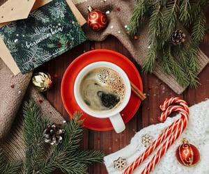 coffee, christmas tree, and snow image