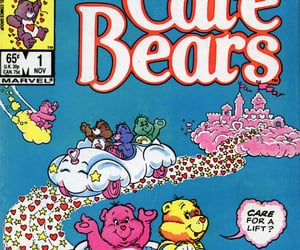 care bears, love a lot bear, and aesthetic image