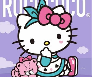 cute, hello kitty, and wallpaper image