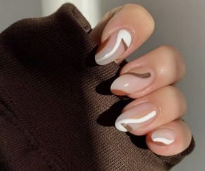 nails, aesthetic, and brown image