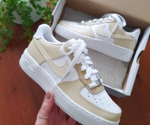 sneakers, beige, and fashion image