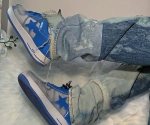 fashion, sneakers, and denim rugged jeans image