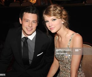 Taylor Swift, cory monteith, and rip image