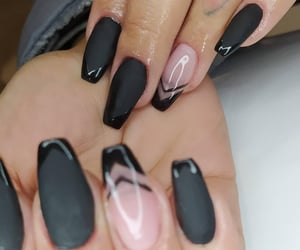 gel nails, unhas grandes, and chic image
