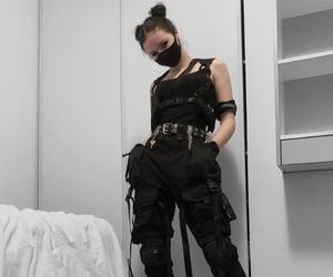 black, cyberpunk, and edgy image
