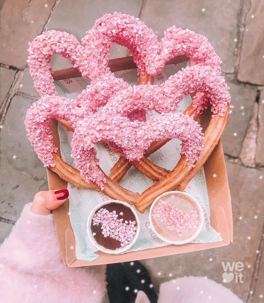 Image de food, light pink, and pretzel