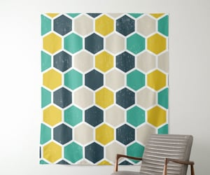 tapestry and hexagonal image