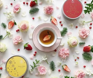 cup of tea, flowers, and tea & flowers image