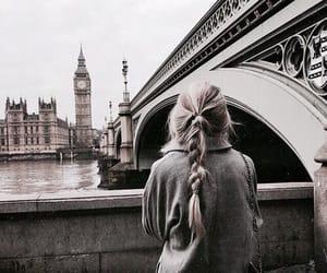 girl, hair, and london image