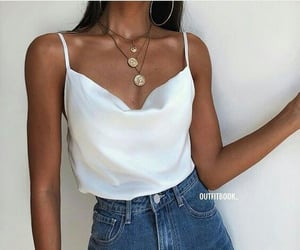 girl, style, and colar bones image