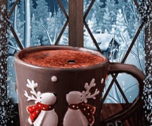 coffee, gif, and snow image