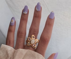 flower, hands, and lilac image