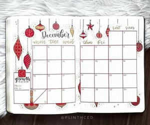 baubles, calendar, and christmas image