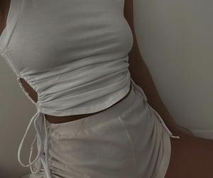 white shorts, everyday look, and monochromatic monochrome image