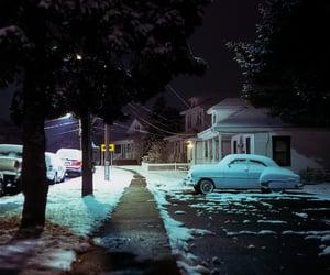 night, snow, and 120 image