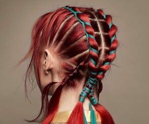 trenzas, belleza, and hair image