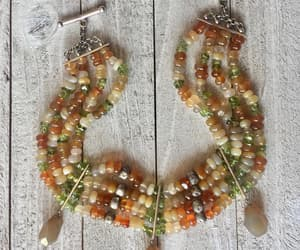 etsy, fall colors, and multi gemstone image