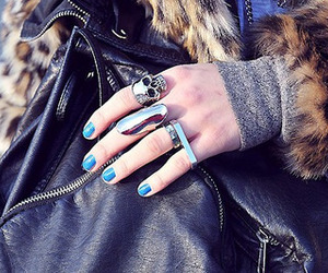 rings, fashion, and skull image