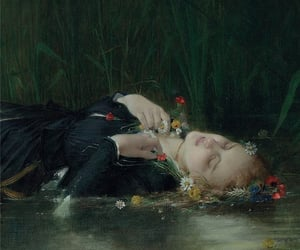 art, painting, and ophelia image