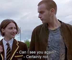 quotes, trainspotting, and love image